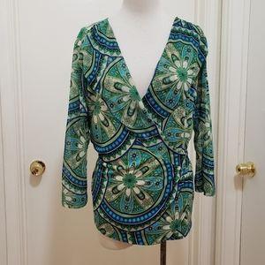 3for$20 deep cut blouse
